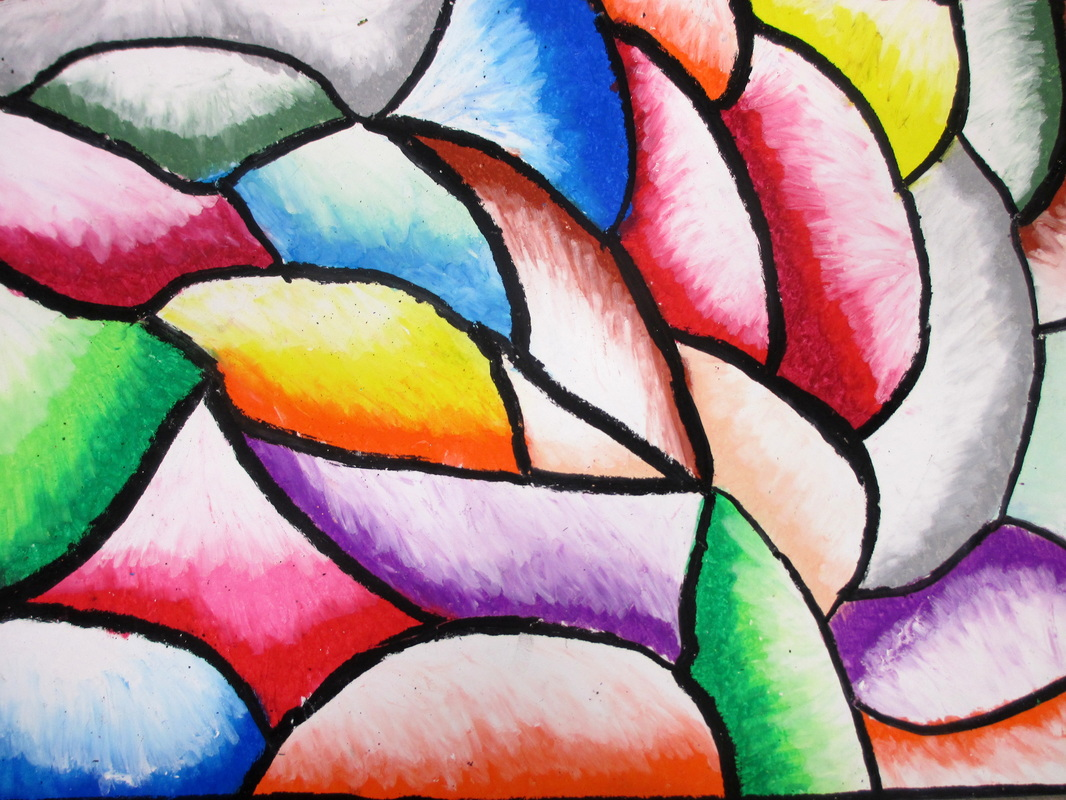 Students Worked With Oil Pastels To Experiment Various Color Schemes For This Project Used Warm Cool Analogous And Monochromatic